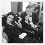 Jenna Dewan-Tatum Backstage with Channing Tatum at the Oscars