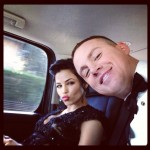 Jenna Dewan-Tatum and Channing Tatum on the way to the Oscars