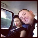 Jenna Dewan-Tatum and Channing Tatum on the way to the Oscars