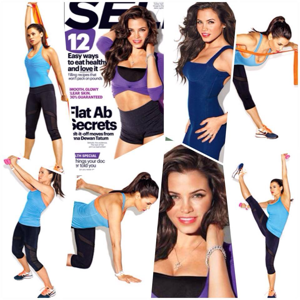 Jenna Dewan-Tatum Covers November 2013 Self Magazine