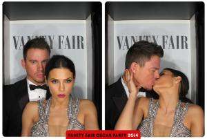 Channing Tatum and Jenna Dewan Tatum Vanity Fair Oscars Party 2014