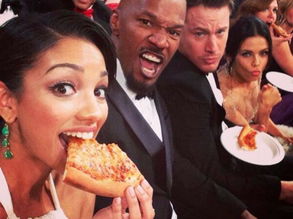 Oscars pizza Channing Tatum Jenna Dewan Tatum Ellen